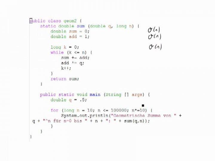 M2 2014-12-10 01 Landau-Notation - Beispiele, Fortsetzung