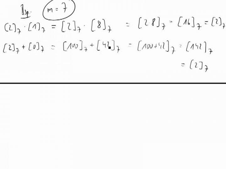 M2 2014-09-24 10 Rechnen mit Kongruenzklassen - Beispiel
