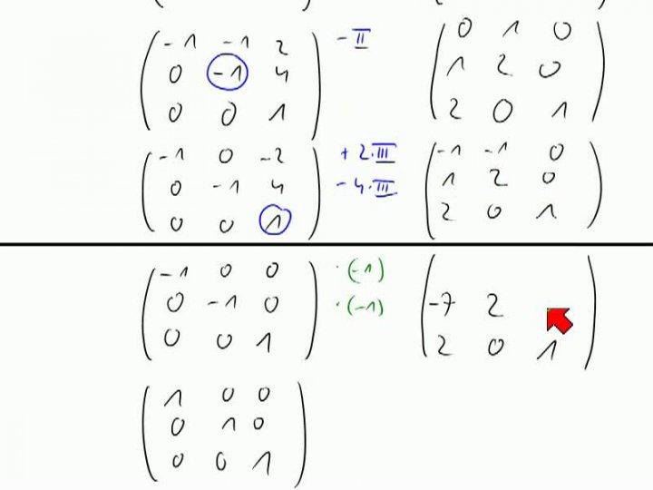 M2 2013-11-08 08 Gauß-Verfahren zum Invertieren einer Matrix, noch ein Beispiel