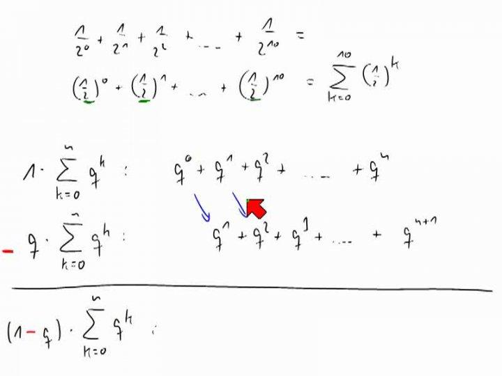 M1 2014-01-08 01 Die geometrische Summenformel