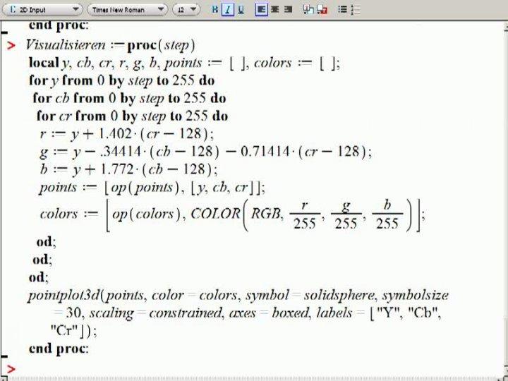 M2 2013-11-06 07 Anwendung - YCbCr -Beispiele