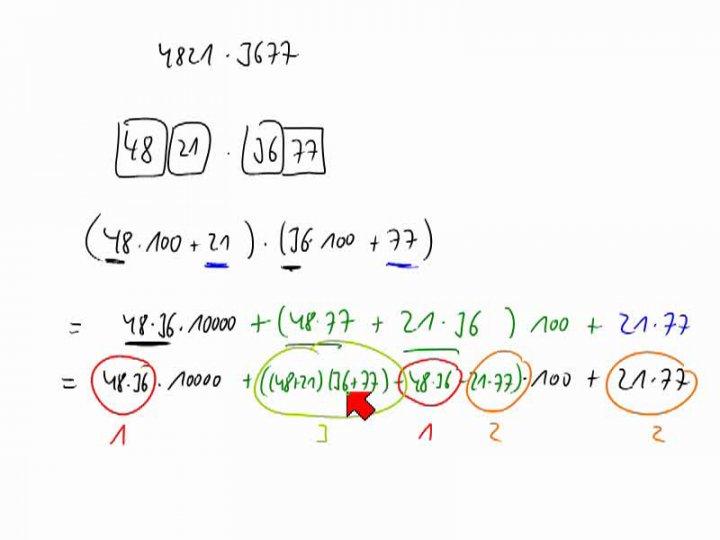 M2 2014-06-18 01 Karatsuba-Multiplikation - Beispiel