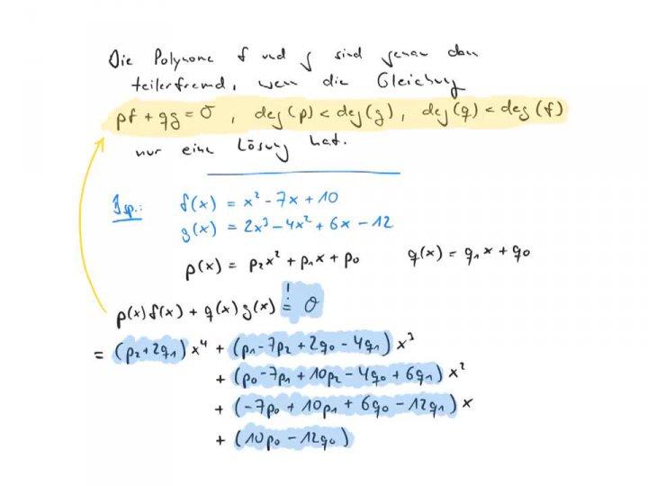 EM 2017-07-27 01 Resultante und Sylvester-Matrix: Die algebraischen Zahlen bilden einen Körper