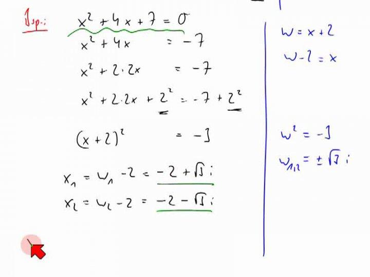 M2 2014-04-09 02 Lösen von quadratischen Gleichungen - Beispiele