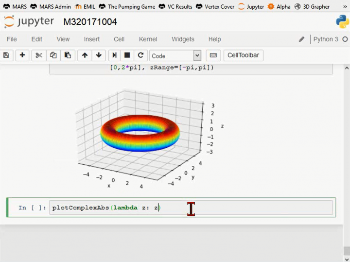 M3 2017-10-04 04 Funktionen, Kurven und Flächen visualisieren in Python und Jupyter