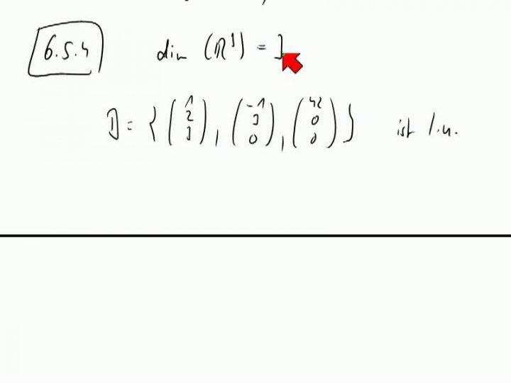M2 2013-10-30 07 Basis und Dimension, Beispiele