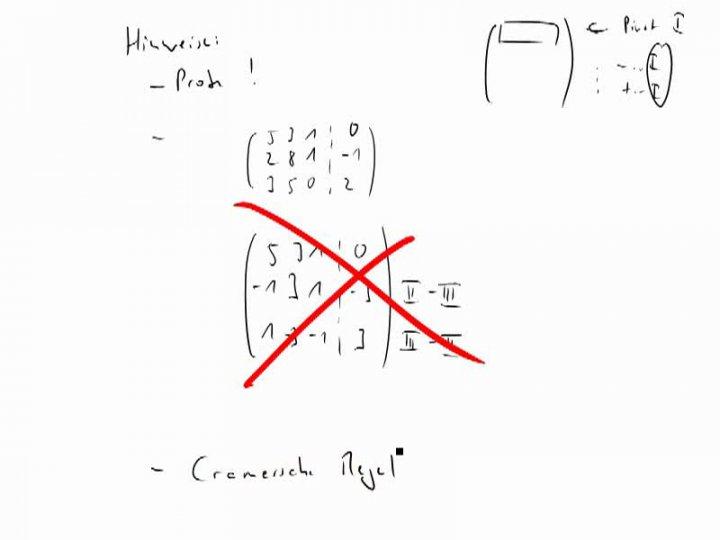 M2 2014-11-19 04 Der Gauß-Algorithmus - ein paar Hinweise