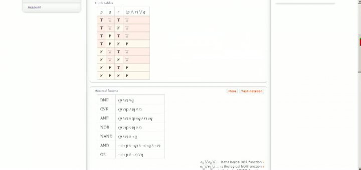 M1 2013-10-16 03 Disjunktive Normalform in Wolfram Alpha