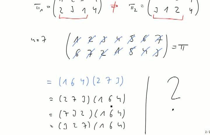 M2 2013-09-27 04 Permutationen als Produkt von Zyklen, Teil 2