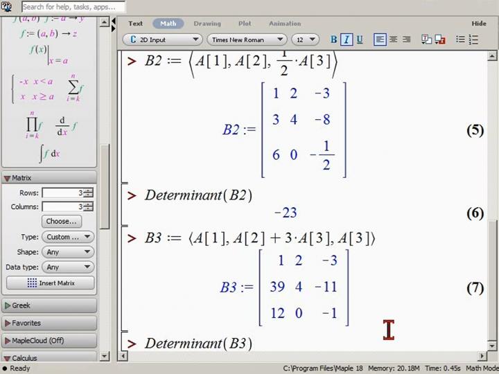 M2 2014-11-24 04 Berechnung von Determinanten mit dem Gauß-Verfahren