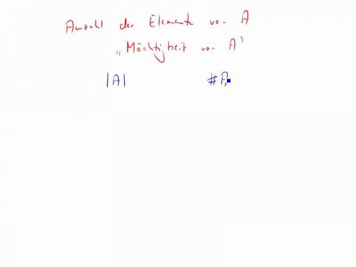 M1 2014-10-13 02 Die Mächtigkeit einer Menge