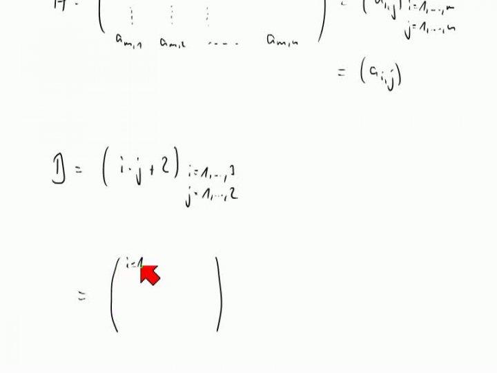 M2 2013-11-01 03 Matrizen, Begriffe und Beispiele