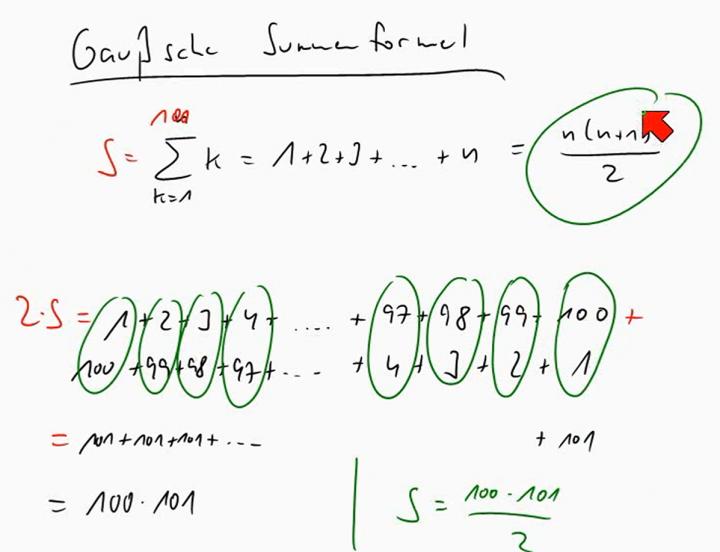 M1 2014-06-18 04 Die Gaußsche Summenformel