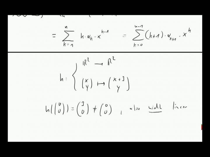 M2 2013-10-25 06 Lineare Abbildungen, Beispiele, Fortsetzung