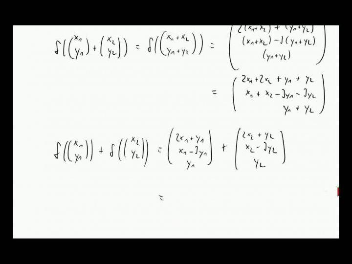 M2 2013-10-25 05 Lineare Abbildungen, Beispiele