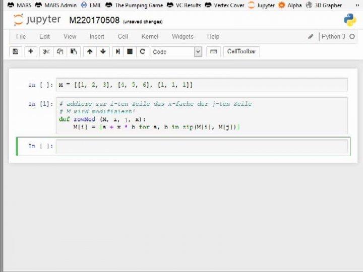 M2 2017-05-08 05 Das Gauß-Verfahren in Python