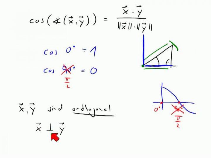 M2 2013-11-29 03 Orthogonale Vektoren, Satz des Pythagoras