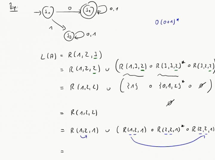 TI 2014-10-22 06 Reguläre Ausdrücke zu vorgegebenen Automaten, Beispiel