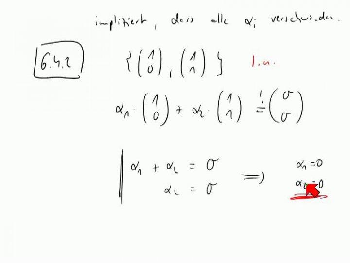 M2 2013-10-30 04 Kriterium für lineare Unabhängigkeit