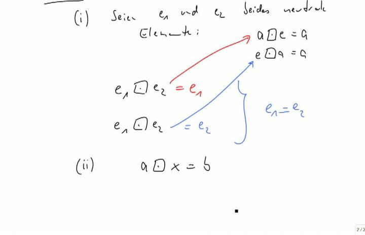 M2 2013-09-25 08 Einfache Eigenschaften von Gruppen