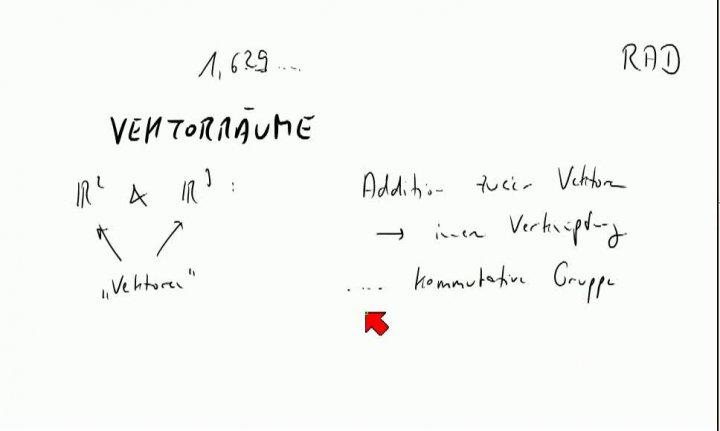 M2 2013-10-23 05 Der Begriff des Vektorraums