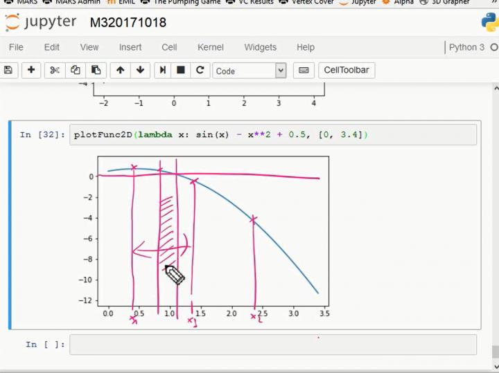 M3 2017-10-18 09 Bisektion: numerische Lösung von Gleichungen als Anwendung des Zwischenwertsatzes