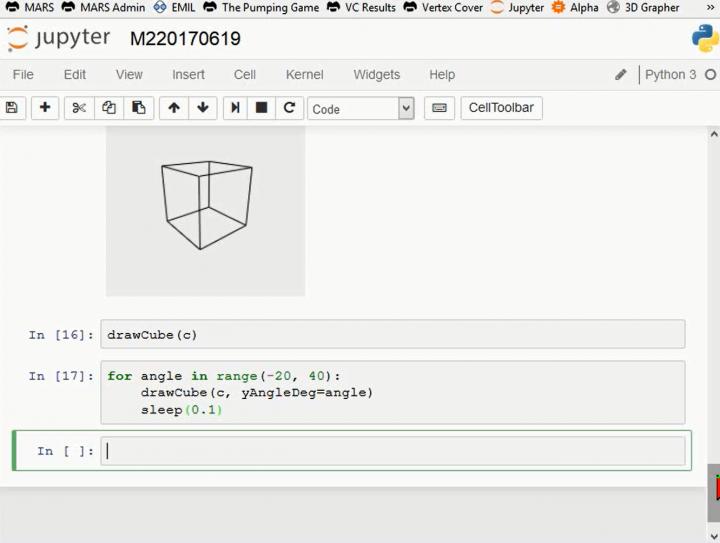 M2 2017-06-19 07 Dreidimensionale Darstellung - Zentralprojektion in Python