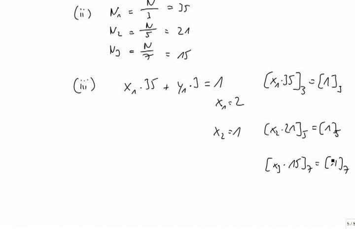M2 2013-09-20 12 Chinesischer Restsatz - Algorithmus