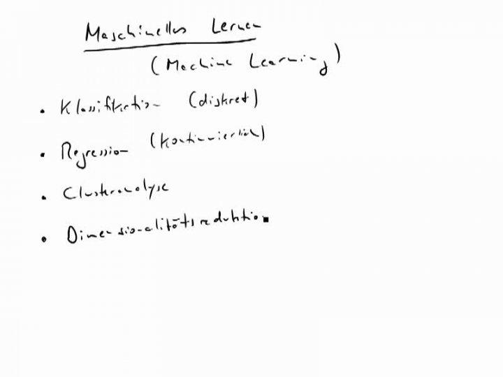 MINF 2016-05-03 01 Maschinelles Lernen