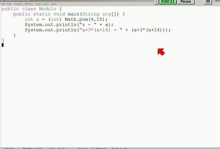M2 2013-09-20 05 Javas modulare Arithmetik