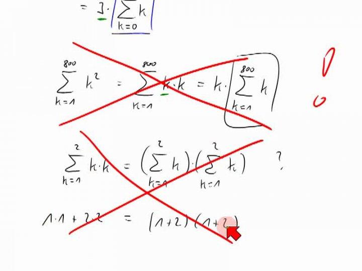 M1 2013-12-18 07 Rechnen mit dem Summenzeichen