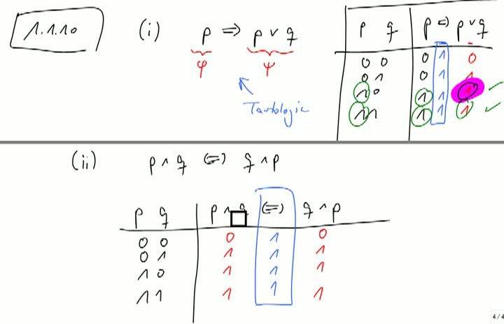 M1 2013-10-09 10 Zusammenhang zwischen Kalkül und logischem Denken
