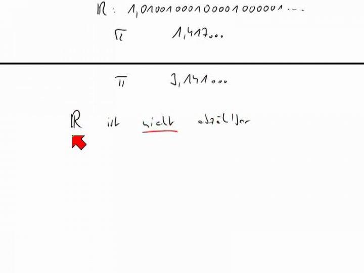 M1 2013-12-18 03 Die Menge der reellen Zahlen ist nicht abzählbar