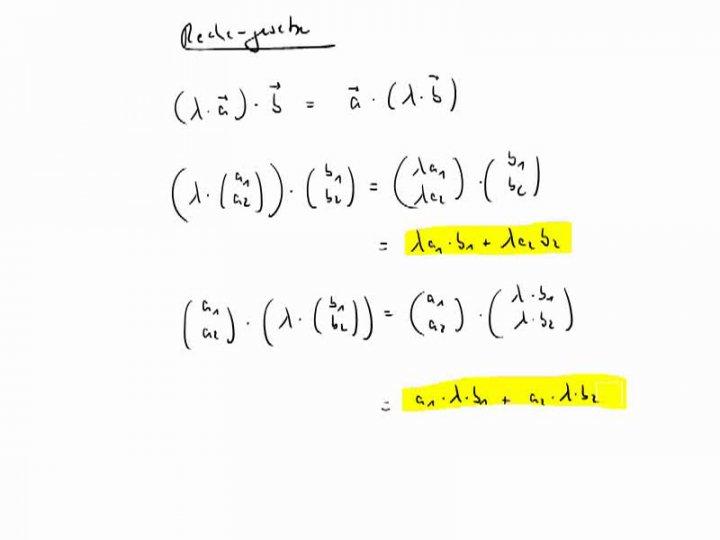 M2 2017-05-29 05 Zusammenhang zwischen Skalarprodukt und Matrixmultiplikation