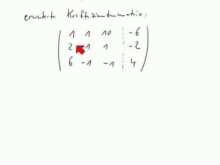 M2 2013-11-13 04 Gauß-Verfahren für lineare Gleichungssysteme, Beispiel