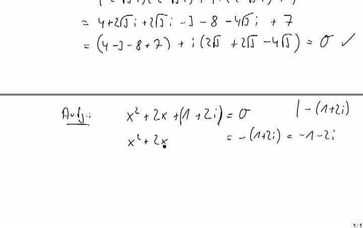 M2 2013-10-09 05 Quadratische Gleichungen, Beispiele
