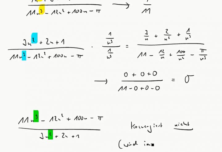 M2 2017-04-10 04 Grenzwerte von Quotienten von Polynomen