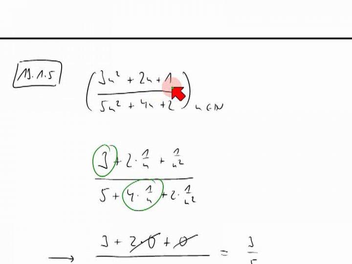 M2 2013-12-11 02 Grenzwerte von Folgen - Beispiele