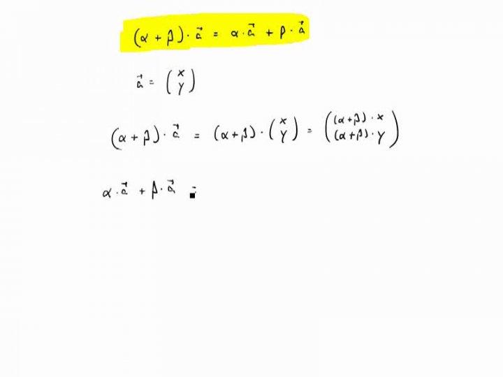 M2 2017-04-24 10 Distributivität von Vektoraddition und Skalarmultiplikation